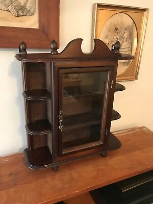 Estate Vintage Curio Display Cabinet Great for Keepsakes and Miniatures