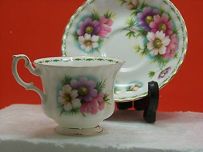 """Royal Albert Flower of the Month Series, October """"Cosmos"""" Fine Bone China"""