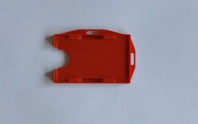 ID Card Holder Red Double Sided