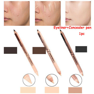 Long-lasting  Double Ended Concealer pen Makeup up Eyeliner Eyebrow Cosmetic