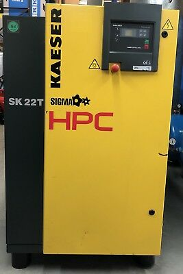 Kaeser / HPC SK22T Rotary Screw Compressor With Dryer! 11Kw, 15Hp, 70.6Cfm!