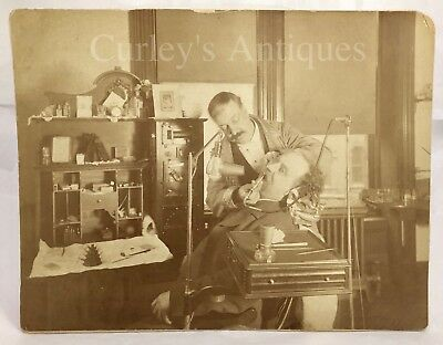 Antique c1910 Dentist Office Early Electric Medical Equipment Photo