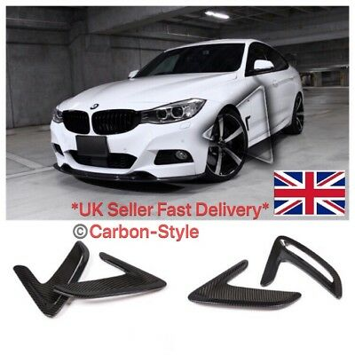BMW 3 Series GT F34 Carbon Fiber Finish Side Wing / Fender Air Vent