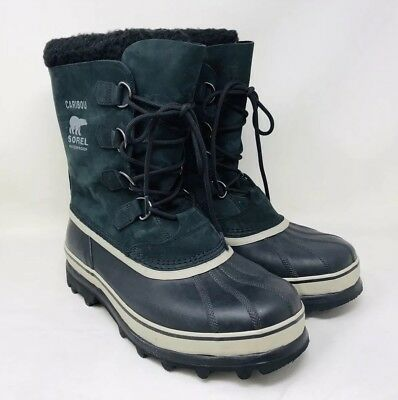 Sorel Men's Caribou Winter Boots Black/Tusk Pick A Size