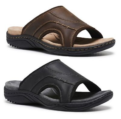 d44617551ab Mens Hush Puppies Alex Leather Sandals Casual Comfortable Lightweight Shoes