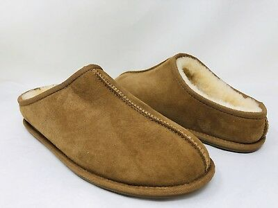 Kirkland Signature Men's Shearling Clog Slippers Chestnut, Pick A Size