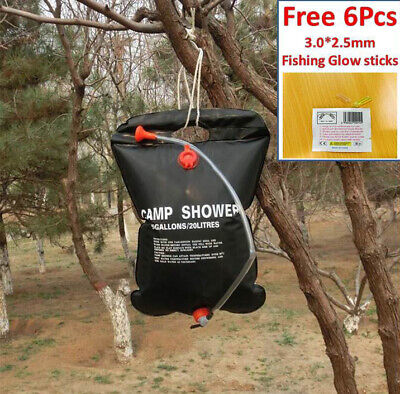 20L Non-Toxic PVC Camping Solar Heating Water Shower Bag Outdoor Travel Portable