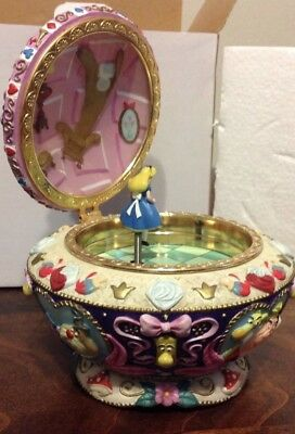 Vintage Alice In Wonderland Jewelry Music Box RARE HTF With ORIGINAL BOX