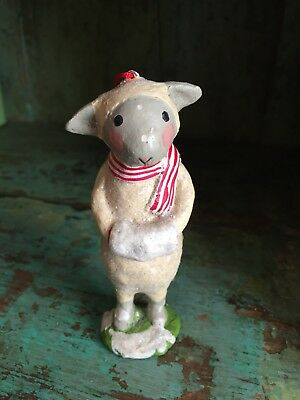 Lamb Sheep w/ Scarf Ornament Christmas Easter Holiday Gift Vintage Style New