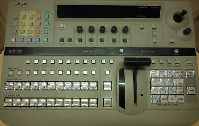 Sony DFS 700P DME switcher rack and control panel