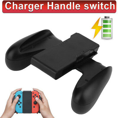 Comfort Grip Handle Bracket Holder Charger Charging for Nintendo Switch Joy-Con