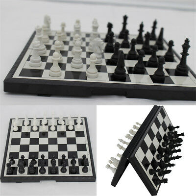 Magnetic Folding Chessboard Chess Board Box Set Portable Kids Game Toy Puzzle CG