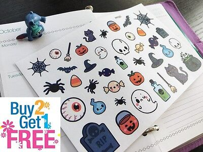 PP330 -- Kawaii Halloween Icons Planner Stickers for Erin Condren (39pcs)