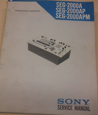 Sony SEG 2000A Service Manual FREE DELIVERY