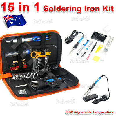 Soldering Iron Kit Electronics Welding Tool 60W Adjustable Temperature Portable