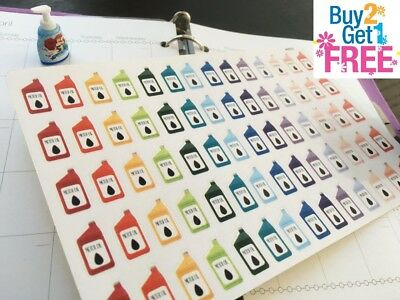 PP073 -- Motor Oil Icons Life Planner Stickers for Erin Condren (70 pcs)