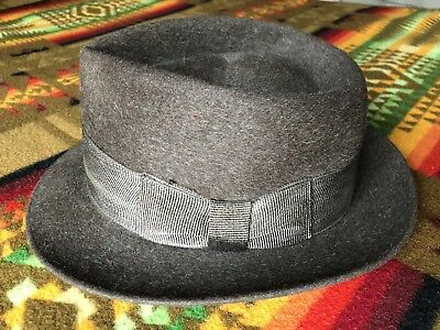 ae0cb31b6 ANTIQUE VINTAGE ROYAL Stetson Deluxe Fedora Hat w/ Original Box ...