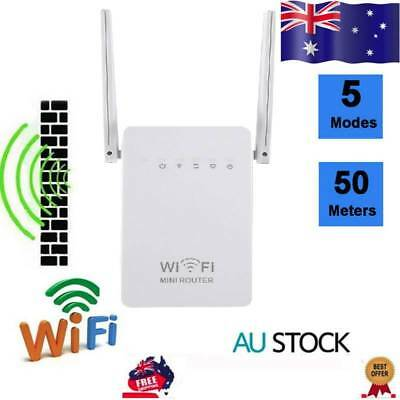 300Mbps Dual-Band Wireless Extender WiFi Repeater Signal Booster Network AU