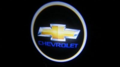 2x For Chevrolet Car Door Welcome LED Lights Courtesy Projector Ghost Shadow