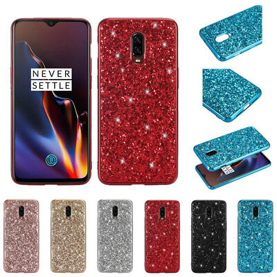 For OnePlus 6T 6 Bling Glitter Plating Bumper Soft Silicone Hybrid Case Cover