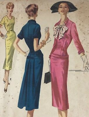 1950s Mccall Vintage Sewing Pattern 3353 Dress Bust 30