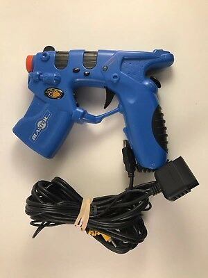 MadCatz Blue Blaster Light Gun PlayStation 1 & 2 PS1 PS2 Video Game Controller