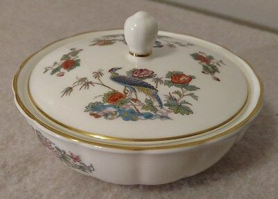 "Wedgewood Kutani Crane Bone China 4-3/8"" Murray Dish/Bowl w/Lid Retired"