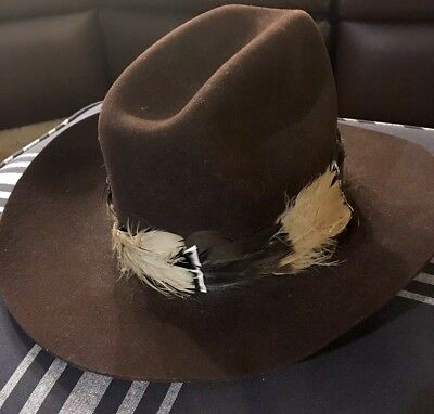 Ranch Western Wear Dynafelt Water Repellent Fur Blend Cowboy Hat Size 7 1 8 56356a242569