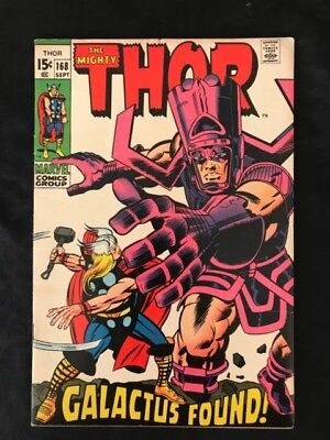 Sharp August 1969 Marvel The Mighty Thor Comic Book 168 Galactus Jack Kirby