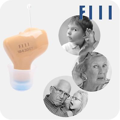 FIIL Hearing Amplifier Mini Sound Amplifier in Ear Almost Invisible Battery Left