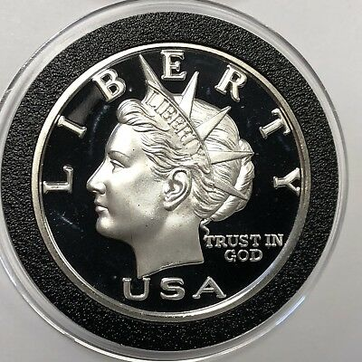 2000 NORFED Liberty Head 1 Troy Oz .999 Fine Silver Rare Proof Round Coin Medal