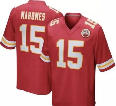NWT Men's Patrick Mahomes Kansas City Chiefs Jersey Stitched Red #15