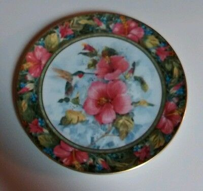 Royal Doulton Franklin Mint The Imperial Hummingbird Numbered Collector's Plate