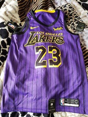 buy online 34cd2 56c0f LEBRON JAMES #23 City Edition Nike Lakers Swingman Jersey Men's Medium (44)  NWT