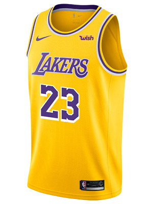 NIKE LOS ANGELES Lakers LeBron James Home Icon Authentic Jersey 44 ... 919784a72a38