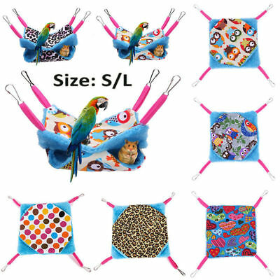 Cozy Pets Square Fleece Hanging Hammock Guinea Pig Bed Ferret Rat Bird Bed Etc