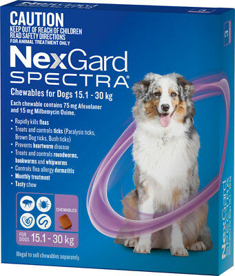 NexGard SPECTRA for Dogs 15.1 - 30kg PURPLE