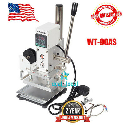 WT-90AS Manual Digital Hot Foil Stamping Machine Leather Plastic Bronzing Machin