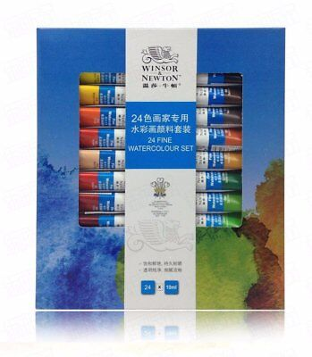 winsor & newton 24 Colors Fine Watercolor Paint 10ML Tube For Artists & Studens