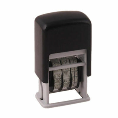 3pcs Mini Date Stamp Self-Inking Rubber Stamp Stationery Business Supplies