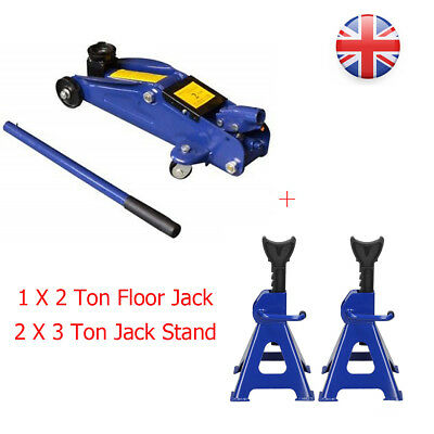 Portable 2 Ton Hydraulic Lift Floor Jack And 2Pcs 3 Ton Jack Stand Set For Women