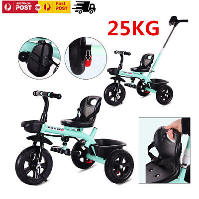 2 IN 1 Tricycle Trike Bike Bicycle 3 Wheel Ride On Toy For Kids Baby Toddler AU