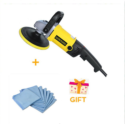 "7"" Variable 6 Speed Electric Car Polisher Buffer Waxer Sander Truck Boat+Towels"