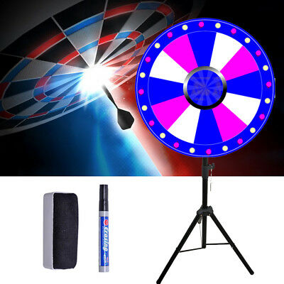 """24"""" Prize Wheel Tripod Stand Fortune Spinning Game Tabletop Color Dry Erase USA"""