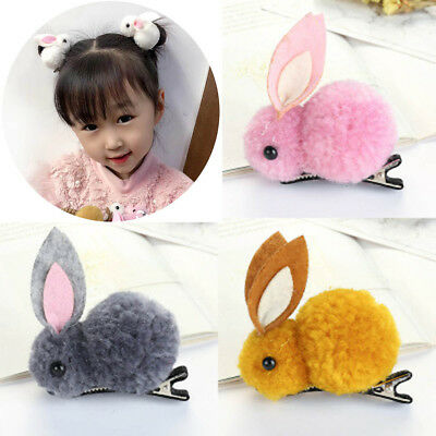 Delicate Rabbit Shaped Headwear Girls Hair Clips Barrettes Baby Hair Accessories