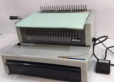 Ibico  EPK 21 Electric Plastic Comb Binder w/ Foot Petal Heavy Duty
