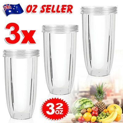 3X NUTRIBULLET 32 Oz COLOSSAL TALL BIG CUP - Nutri Bullet 600 & 900W Models TP