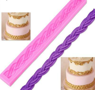 Cake Silicone Mold Long Rope 3D Border Moulds Fondant Cake Decorating Tools