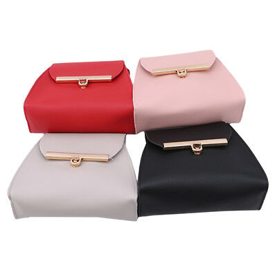 Casual PU Leather Flap Shoulder Bags Pure Color Chest Bag Crossbody Handbags N7