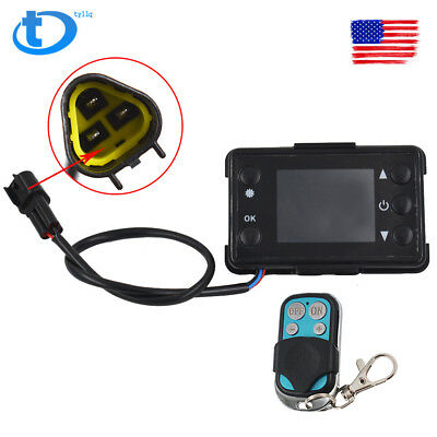 For Car Diesel Air Parking Heater LCD Monitor Switch & Remote Control Controller